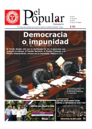 "Editorial del Semanario El Popular N° 463: ""Democracia o impunidad"""