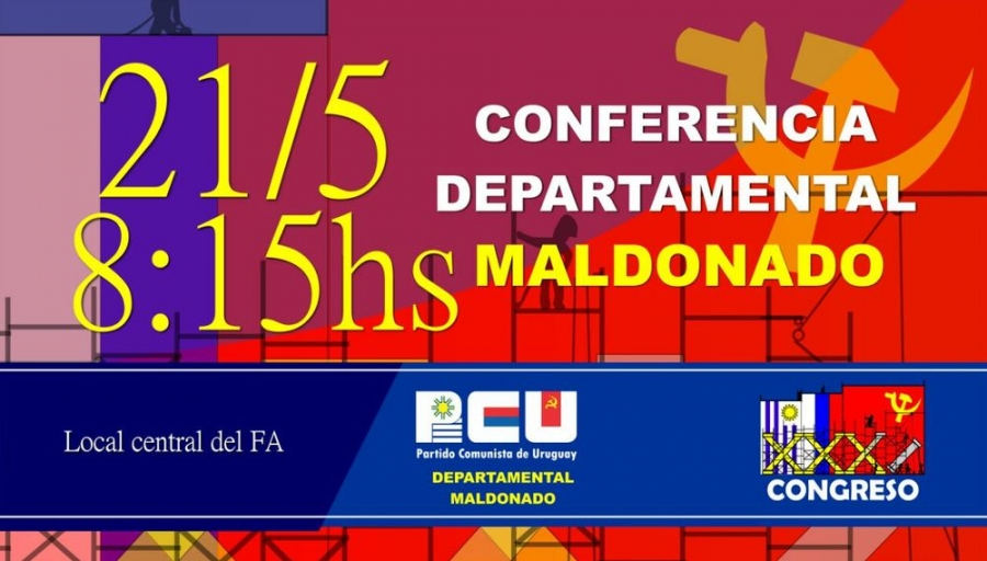 Conferencia Departamental PCU Maldonado