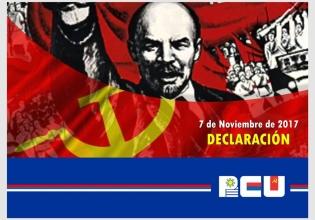 Declaración del PCU: 100 años de la Revolución de Octubre